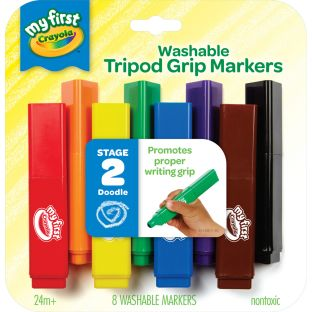 My First Crayola Tripod Grip Markers  8 Ct. - 8 markers