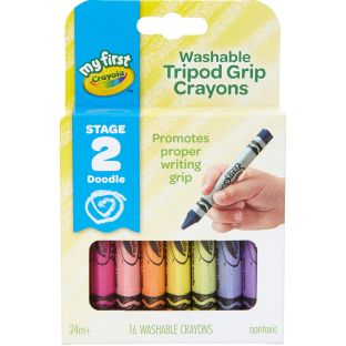 My First Crayola Washable Tripod Grip Crayons  Stage 2  16 Ct.