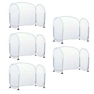 Excellerations Fold-Up Portable Desktop Barrier - Set of 5