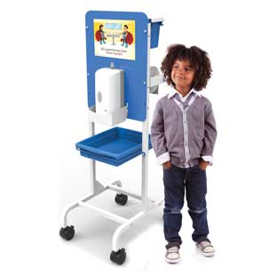 Single Student Hand Sanitizer Station - Premium Model - 1 station