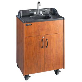 Ozark River Portable Hot Water Sink with Cherry Top and Basin - 1 portable sink