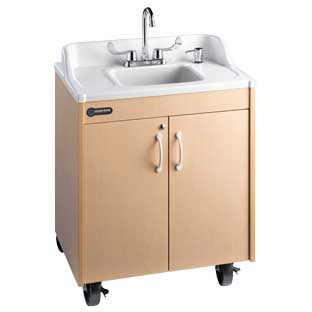 Ozark River Lil' Portable Hot Water Sink with White Top and Basin - 1 portable sink