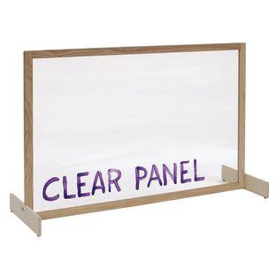 Clear Panel Room Divider - 1 divider