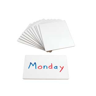 """9""""X12"""" Single-Sided Non-Magnetic Dry Erase Boards – 12 Pack – Made in the U.S.A"""