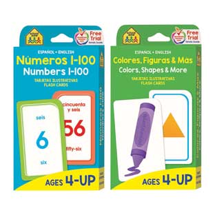 Bilingual Math Flash Cards: Numbers 1-100 and Colors, Shapes, and More (Tarjetas Ilustrativas: Numeros 1-100 y Colores, Figuras, y Mas)