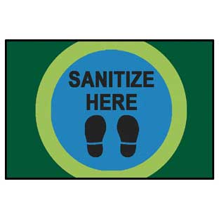 Dot Marks the Spot to Sanitize Here Mat - 4' x 6'