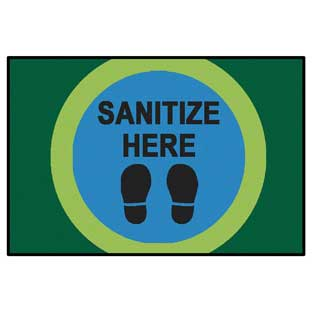 """Dot Marks the Spot to Sanitize Here Mat - 3' x 4' 6"""""""