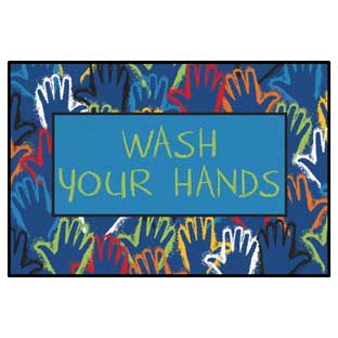 """Wash Your Hands Mat - 3' x 4'6"""""""