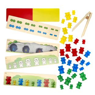 Sort the Bears - Counting and Sorting Fine Motor Activity