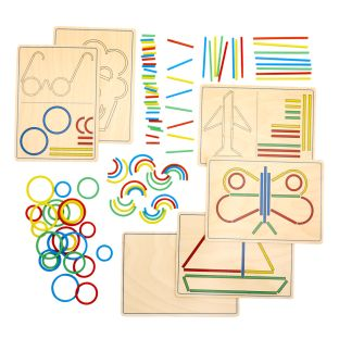 Rings and Sticks - Early STEM Design Activity with 100 Shapes