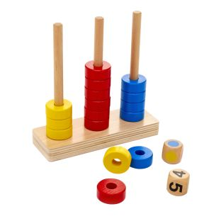 Stack the Rings - Counting and Sorting Game
