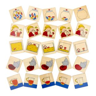 From Full to Empty - Sequencing Skills Activity with 25 Wooden Cards
