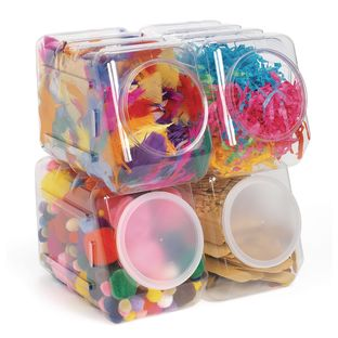 Interlocking Stacking Containers - Set of 4