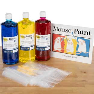 StoryTime Science™ - Mouse Paint Book And Kit By Steve Spangler Science™ - 1 multi-item kit