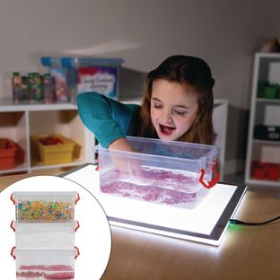 Science Exploration Sensory Bin Kit - 3 Stations