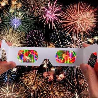 Fireworks Rainbow Glasses - 15-Pack