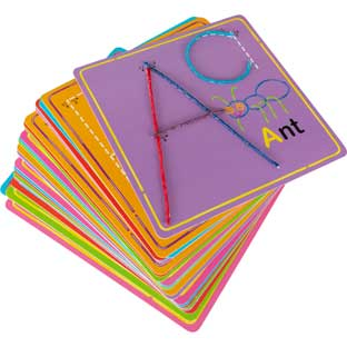 Wikki Stix Alphabet Fun Cards For Learning - 27 cards, 36 wikki stix