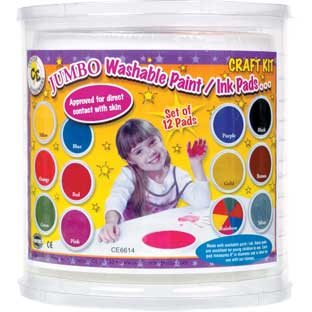 Jumbo Washable Paint/Ink Pads-Craft Kit