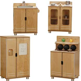 TrueModern Play Kitchen 4-Piece Set
