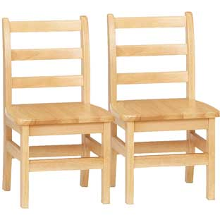 Jonti-Craft® KYDZ Ladder - Back Chair Pair - 12""