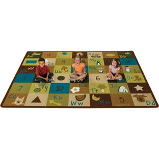 "Nature's Colors Learning Blocks Carpets - Rectangle 5'10""x 8'4"" - 1 carpet"