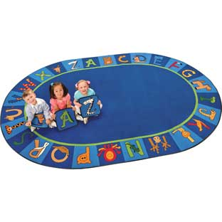 "A To Z Animals Carpet - Oval 6'9""x 9'5"""