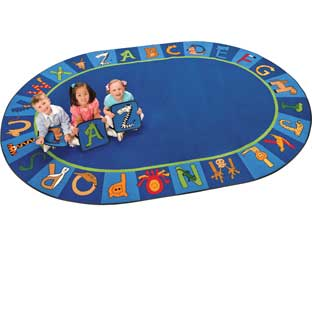 "A To Z Animals Carpet - Oval 8'3""x 11'8"""