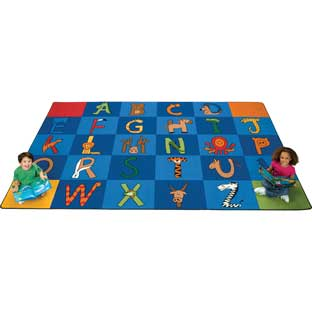 "A To Z Animals Carpet - Rectangle, 7'6""x 12'"