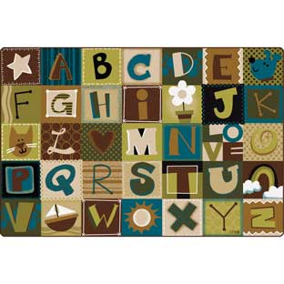 Nature's Alphabet Blocks Carpets - 6' by 9'