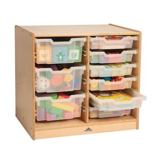 Clear Tray Double Storage Cabinet