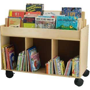 Mobile Book Storage Island