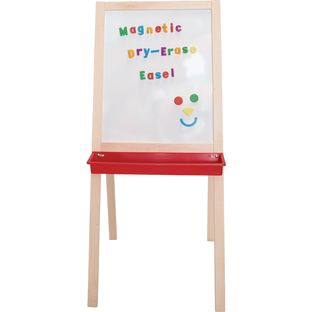 Children's Hardwood Double-Sided Magnetic Easel - 1 easel