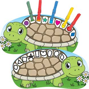 Clip-A-Shape Turtles Kit - 42-piece kit