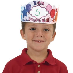 Ready-To-Decorate® Birthday Crowns - 12 crowns