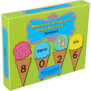 Matching Scoops And Cones Activity™ - Numbers - 57-piece set
