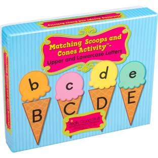 Matching Scoops And Cones Activity™ - Upper And Lowercase Letters - 57-piece kit