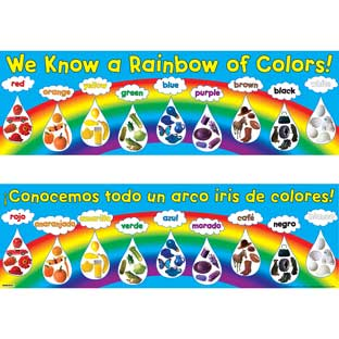 We Know A Rainbow Of Colors! Banners - English/Spanish