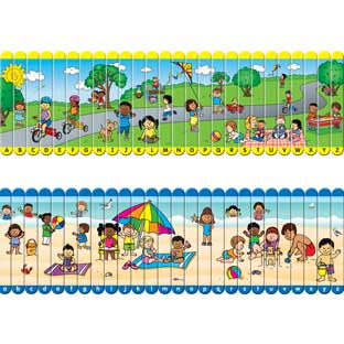 Picture Sticks™ - Alphabet - 2 puzzles, 1 bag