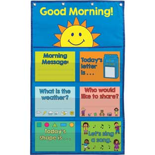 Good Morning Day Starter Pocket Chart  - 13-piece set