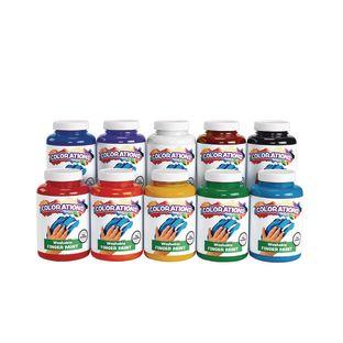 Colorations® Washable Finger Paints, 16 oz. - Set of 10