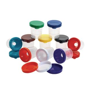 Colorations® Air-Tight, No-Mess Paint Cups - Set of 10