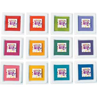 Colorations® Stamper-Perfect Washable Stamp Pads - Set Of 12