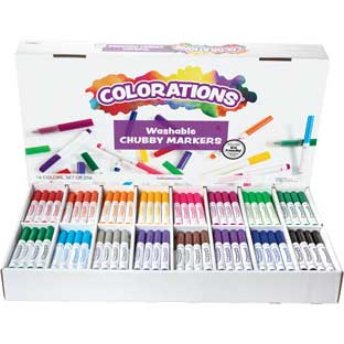 Colorations® Washable Chubby Markers - Set Of 256