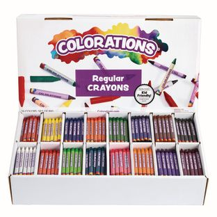 Colorations® Regular Crayons, 16 Colors - Set Of 800