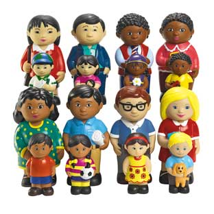 Excellerations Our Soft Family Dolls - Set of All 4 Families