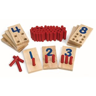 Excellerations® Peg Number Boards - 10 boards, 55 pegs
