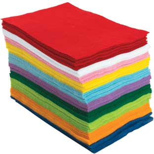"Colorations® Easy Felt Sheets, 6"" x 9"" - 100 Sheets"