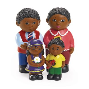Excellerations Our Soft Family Dolls African American Set of 4
