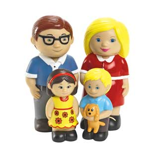 Excellerations Our Soft Family Dolls - Caucasian Set of 4