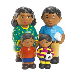 Excellerations Our Soft Family Dolls Hispanic Set of 4